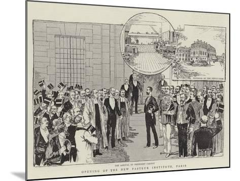 Opening of the New Pasteur Institute, Paris--Mounted Giclee Print