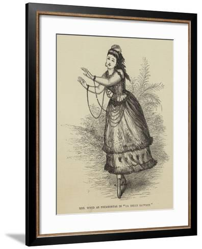 Mrs Wood at Pocahontas in La Belle Sauvage--Framed Art Print