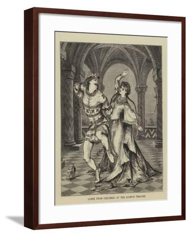 Scene from Chilperic at the Lyceum Theatre--Framed Art Print