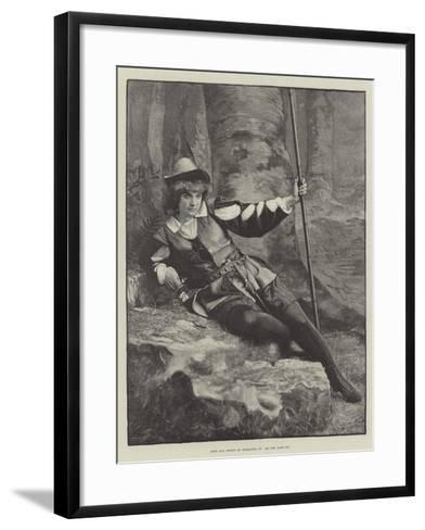 Miss Ada Rehan as Rosalind, in As You Like It--Framed Art Print