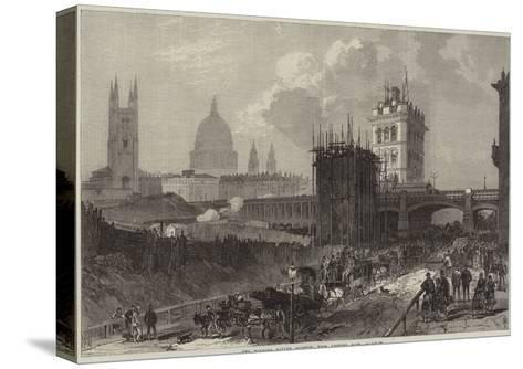 The Holborn Valley Viaduct, View Looking East--Stretched Canvas Print