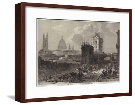 The Holborn Valley Viaduct, View Looking East--Framed Art Print