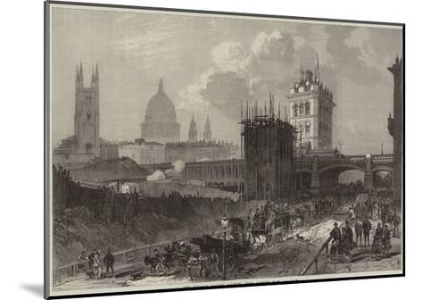 The Holborn Valley Viaduct, View Looking East--Mounted Giclee Print