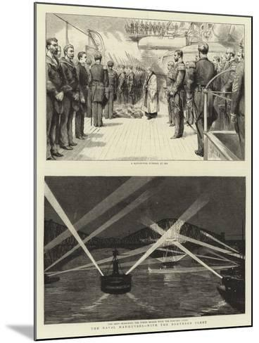 The Naval Manoeuvres, with the Northern Fleet--Mounted Giclee Print