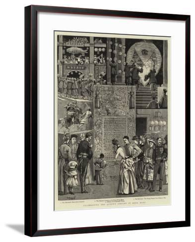 Celebrating the Queen's Jubilee in Hong Kong--Framed Art Print