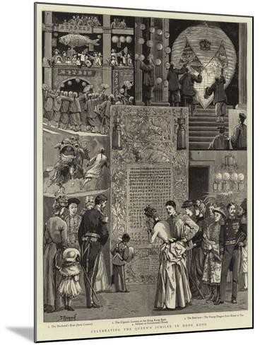 Celebrating the Queen's Jubilee in Hong Kong--Mounted Giclee Print