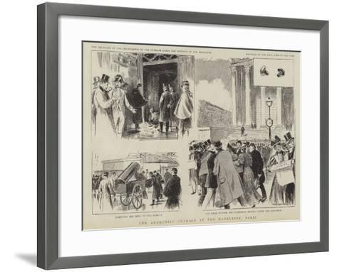 The Anarchist Outrage at the Madeline, Paris--Framed Art Print