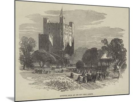 Rochester Castle and the New Public Gardens--Mounted Giclee Print