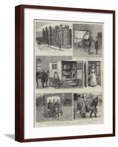 The New American Horse Ambulance at Liverpool--Framed Art Print