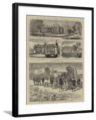 The Visit of the Prince of Wales to France--Framed Art Print