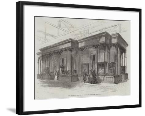 The Vulcanite Court, at the Crystal Palace--Framed Art Print