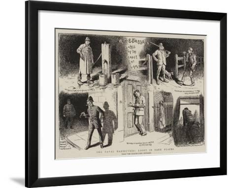 The Naval Manoeuvres, Light in Dark Places--Framed Art Print