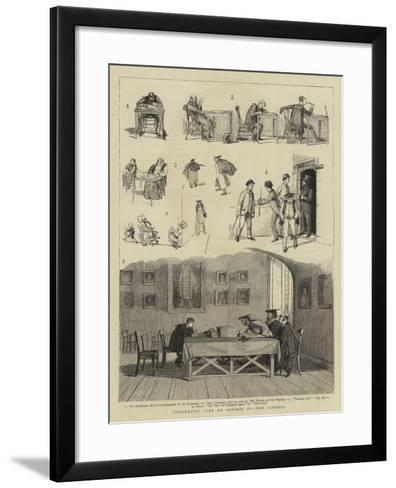 University Life at Oxford, II, the Schools--Framed Art Print