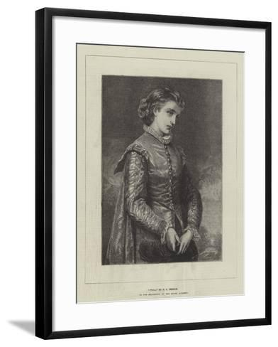 Viola, in the Exhibition of the Royal Academy--Framed Art Print