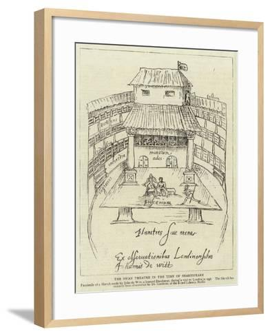 The Swan Theatre in the Time of Shakespeare--Framed Art Print