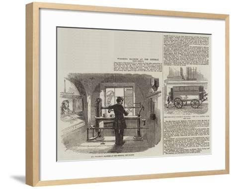 Weighing Machine at the General Post-Office--Framed Art Print