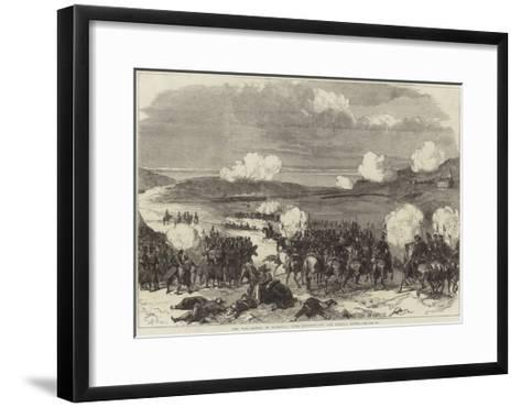 The War, Battle of Blumenau, Near Presburg--Framed Art Print
