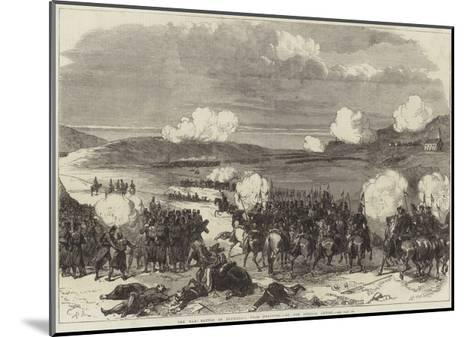 The War, Battle of Blumenau, Near Presburg--Mounted Giclee Print