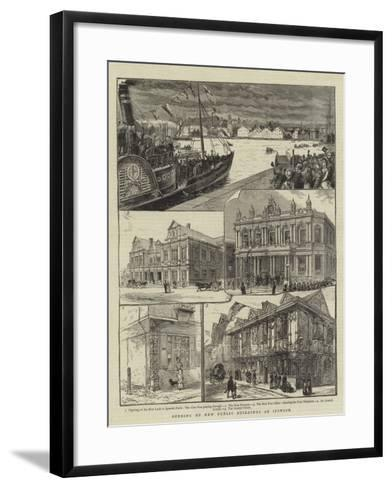 Opening of New Public Buildings at Ipswich--Framed Art Print