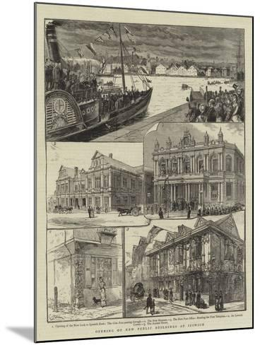 Opening of New Public Buildings at Ipswich--Mounted Giclee Print