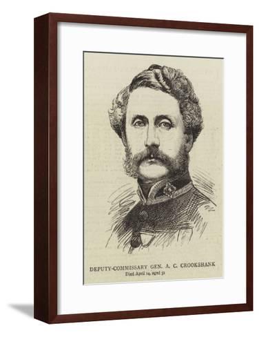 Deputy-Commissary General a C Crookshank--Framed Art Print