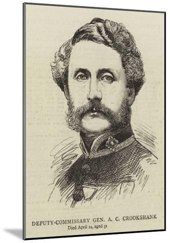Deputy-Commissary General a C Crookshank--Mounted Giclee Print