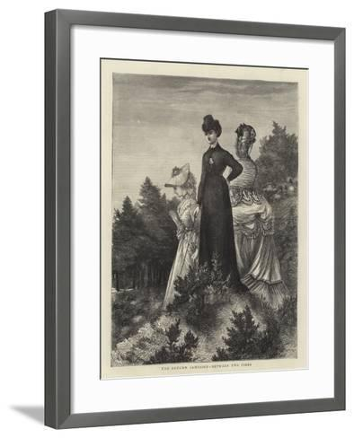 The Autumn Campaign, Between Two Fires--Framed Art Print