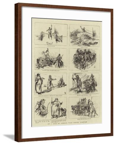 At a Sale of Exmoor Wild Ponies, Bampton--Framed Art Print