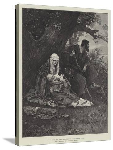 The Flight into Egypt, a Rest by the Way--Stretched Canvas Print