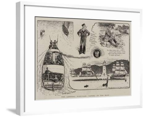The General Election, Voting in the Navy--Framed Art Print