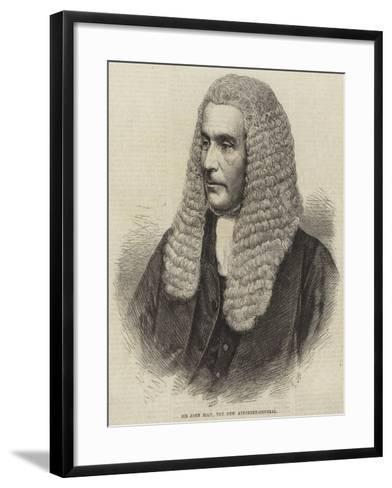 Sir John Rolt, the New Attorney-General--Framed Art Print