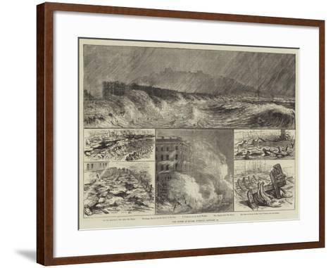 The Storm at Dover, Tuesday, 18 January--Framed Art Print