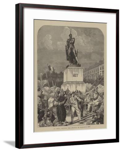 At Metz, before the Statue of Marshal Ney--Framed Art Print