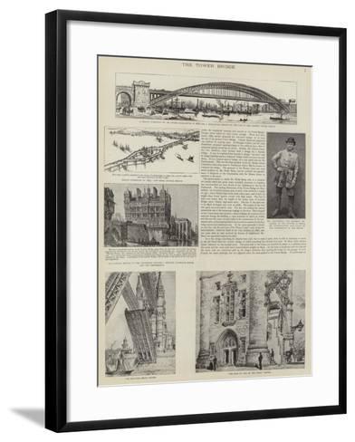 The Construction of Tower Bridge, London--Framed Art Print
