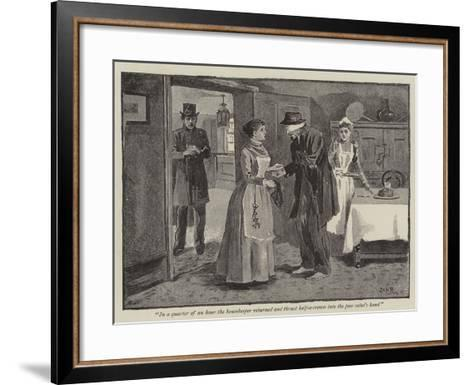 Illustration for a Day in a Tramp's Life--Framed Art Print