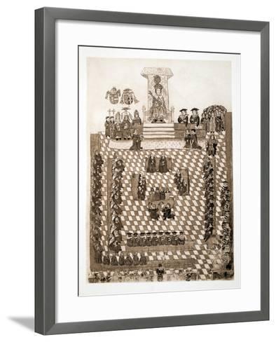 The King in Parliament, 1515, Pub. 1902--Framed Art Print