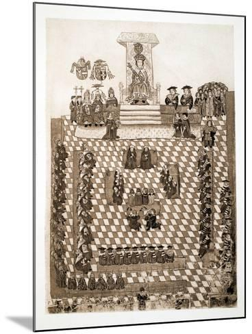 The King in Parliament, 1515, Pub. 1902--Mounted Giclee Print