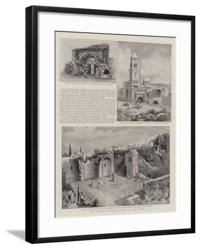 The German Emperor's Visit to Jerusalem--Framed Art Print
