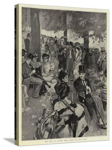 Cup Day at Ascot, the Scene on the Lawn--Stretched Canvas Print
