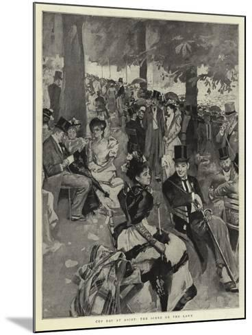 Cup Day at Ascot, the Scene on the Lawn--Mounted Giclee Print