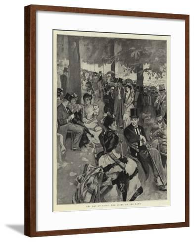 Cup Day at Ascot, the Scene on the Lawn--Framed Art Print