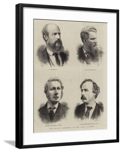 The Recent Elections at the Royal Academy--Framed Art Print