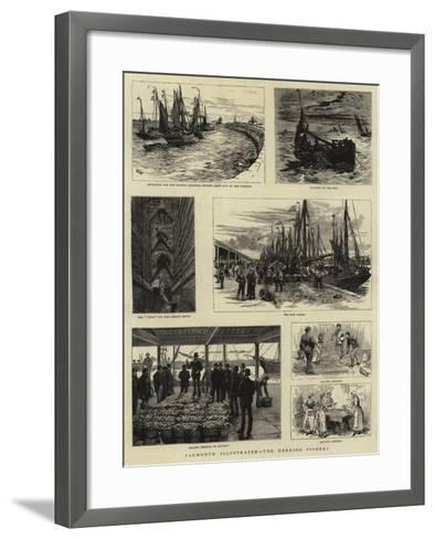 Yarmouth Illustrated, the Herring Fishery--Framed Art Print