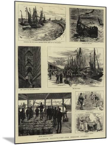 Yarmouth Illustrated, the Herring Fishery--Mounted Giclee Print