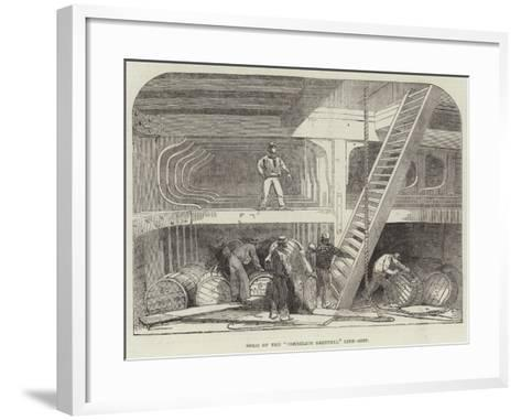 Hold of the Cornelius Grinnell Line-Ship--Framed Art Print