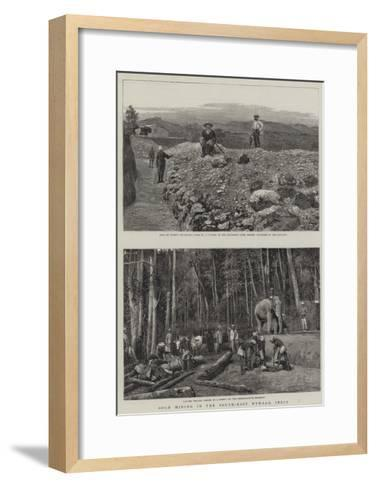 Gold Mining in South-East Wynaad, India--Framed Art Print
