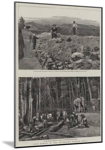 Gold Mining in South-East Wynaad, India--Mounted Giclee Print
