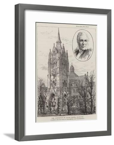 The Completion of Union Chapel, Islington--Framed Art Print