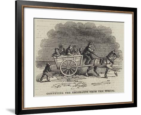 Conveying the Emigrants from the Wreck--Framed Art Print