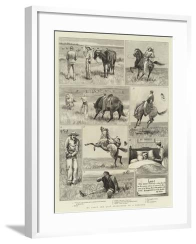 My First and Last Experience of a Broncho--Framed Art Print